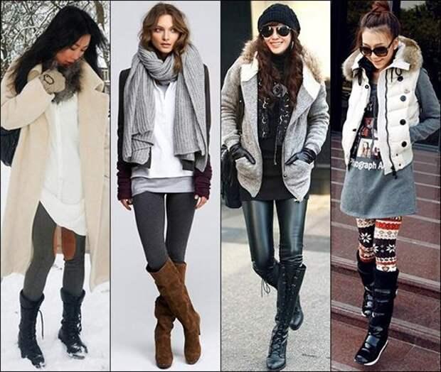 Красивые модели женских зимних леггинсов, как выбрать и с чем носить