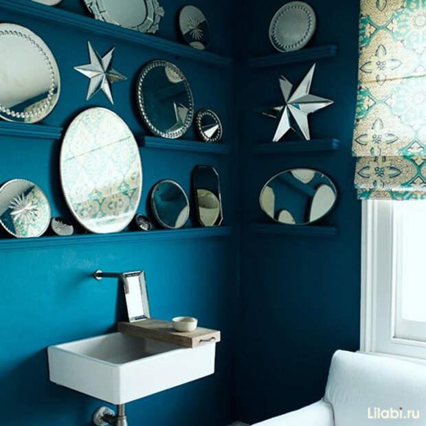 Украшение стен в квартире зеркалами