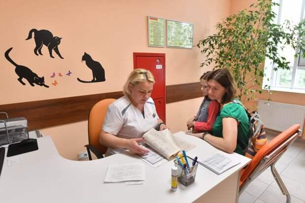Пока идет ремонт, доктора принимают маленьких пациентов в других зданиях поликлиники/Агентство «Москва»
