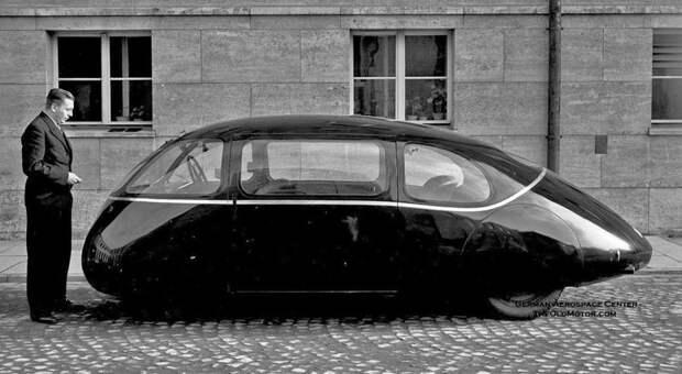 """Автомобиль-капля """"Schlörwagen"""", названный в честь своего конструктора Karl Schlör автомир, аэродинамика, из прошлого, конструкция, обтекаемость. формы"""