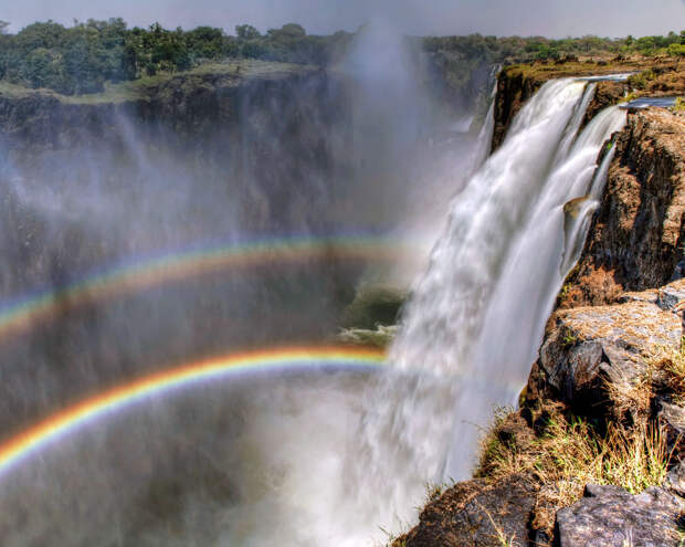 rainbow22 Радуга над самым большим водопадом в мире