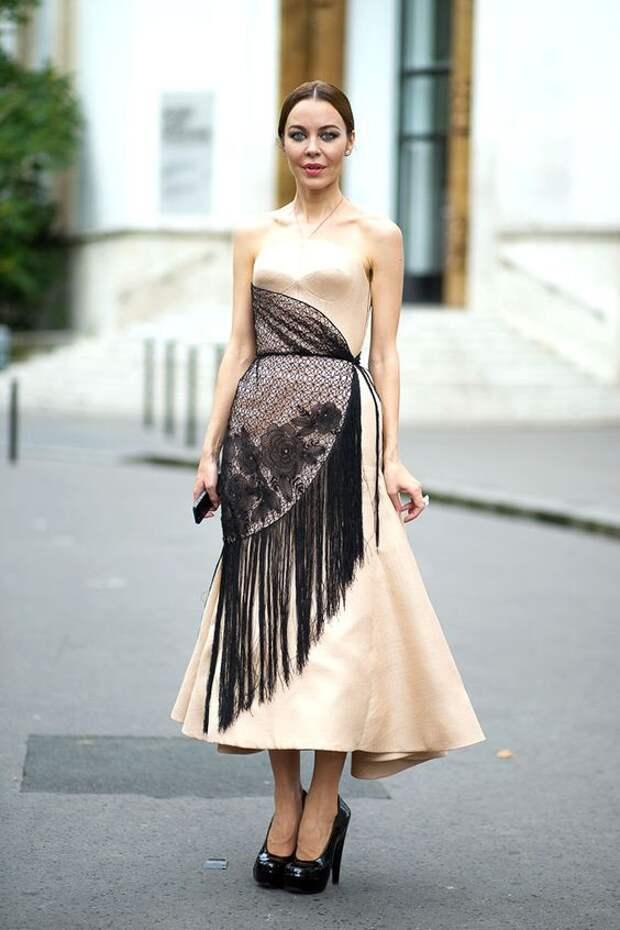 Платье с шалью