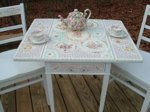 разбитые чашки посуда тарелки мозаика