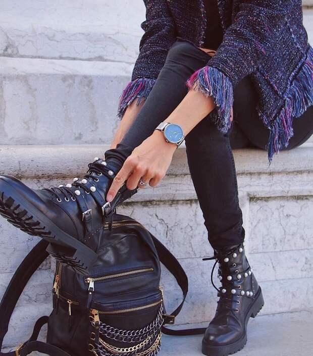 Грубые ботинки. С чем носить главный тренд обуви?