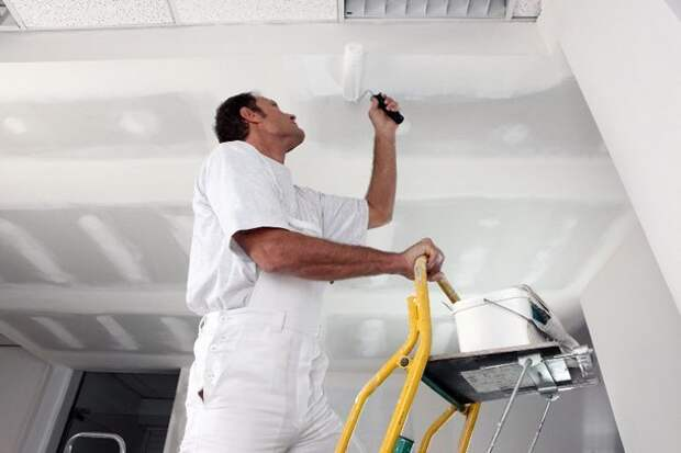 Как правильно грунтовать потолок перед покраской