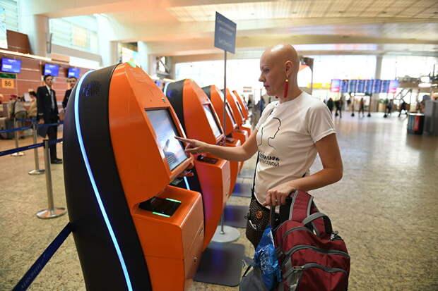 Марина Золотова в аэропорту перед отлетом в Техас