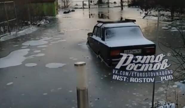 Станицу сильно затопило вРостовской области