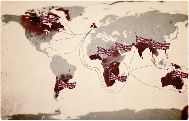 Влияние Британской империи в мире на к середине 19 века.