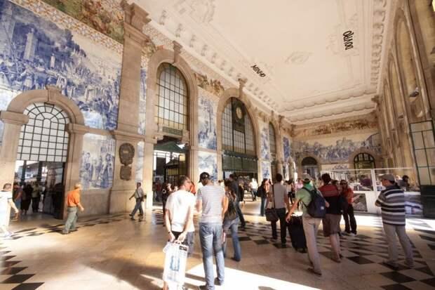 Железнодорожный вокзал Сан-Бенту, Порту, Португалия