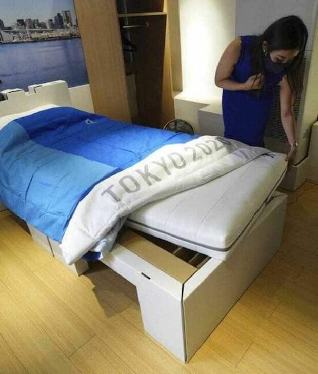На Олимпиаде в Токио спортсмены будут спать на картонных кроватях