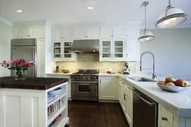 Экономия места на кухне с островом