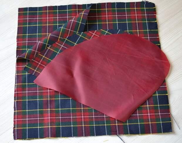 Обработка внутреннего бокового кармана платья, шаг 1
