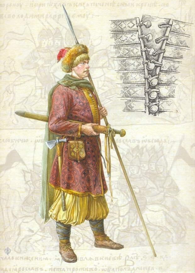 Древнерусский дружинник второй половины X века, опыт реконструкции