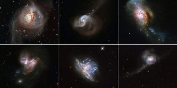 NASA опубликовало потрясающие фотографии столкновения галактик