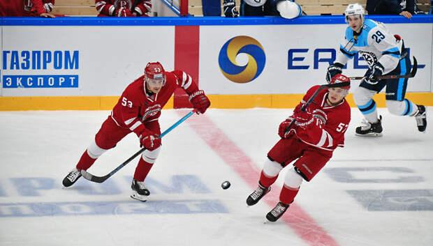 Подольский «Витязь» проиграл хоккейному клубу «Сибирь» со счетом 3:4