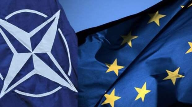 В Белграде сожгли флаги НАТО и ЕС