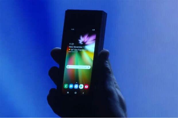 Опубликованы характеристики складного смартфона Samsung Galaxy F