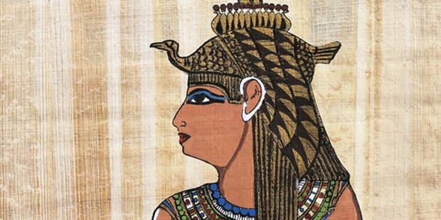 Древнеегипетское изобраение царицы Клеопатры.