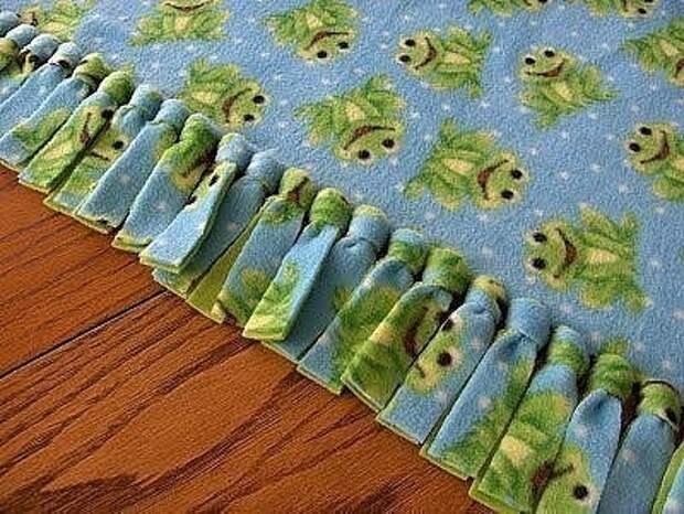 Двойное одеяло без шитья? Легко, с помощью этого трюка