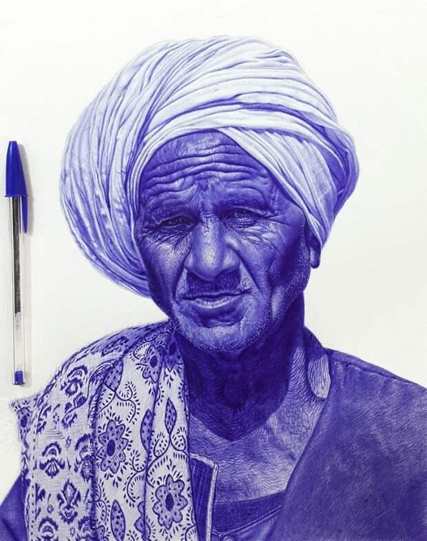 Невероятно, но эти потрясающие картины были нарисованы простой шариковой ручкой