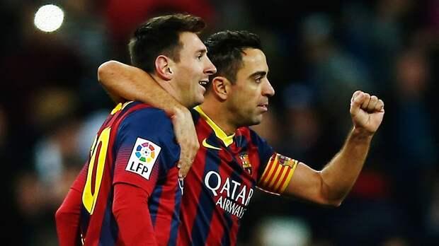 Хави отреагировал на достижение Месси, повторившего его рекорд в «Барселоне»