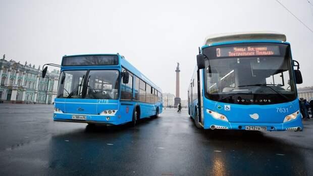 В Санкт-Петербурге запустили автобусы в клубных цветах «Зенита»