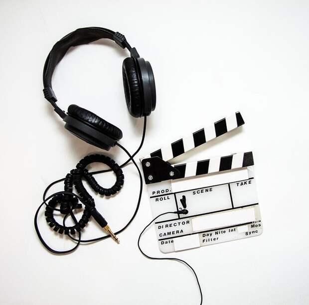 Наушники, Язык, Хлопушка, Фильм, Видео, Кино