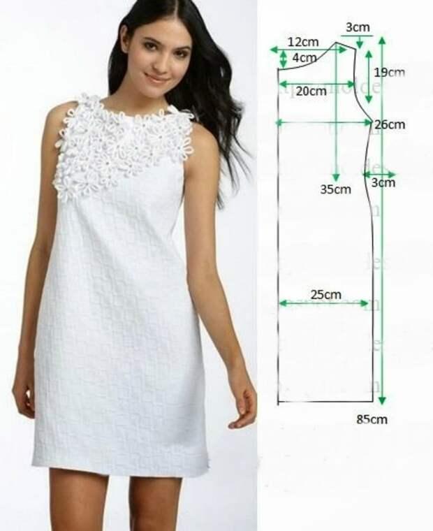С мечтой о лете: оригинальные платья с выкройками