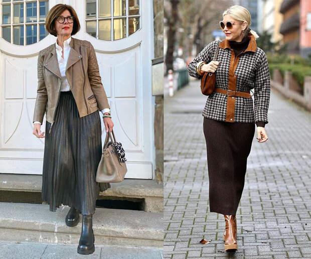 Как выбрать верхнюю одежду весной 2021 молодым и возрастным женщинам? Учимся у западных модниц