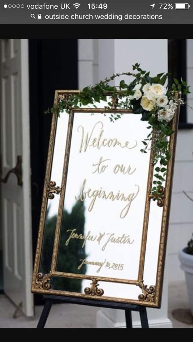 Свадебные зеркальные идеи