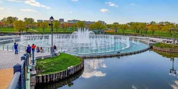Собянин открыл сезон фонтанов в Москве. Фото: М. Денисов mos.ru