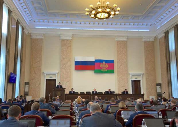 Губернатор Кубани представил депутатам своих замов