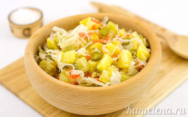Картофельный салат с квашеной капустой — 3 шаг