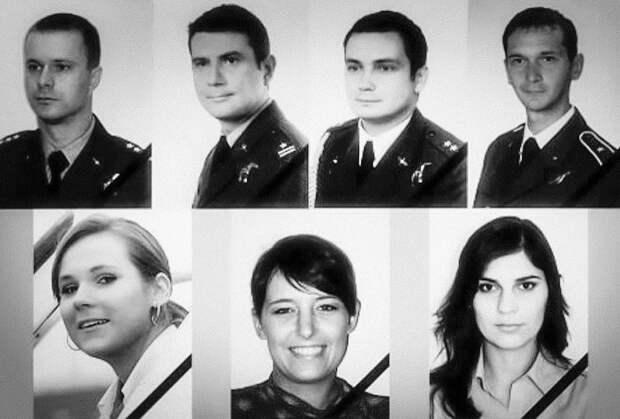 Погибший экипаж польского «борта №1»