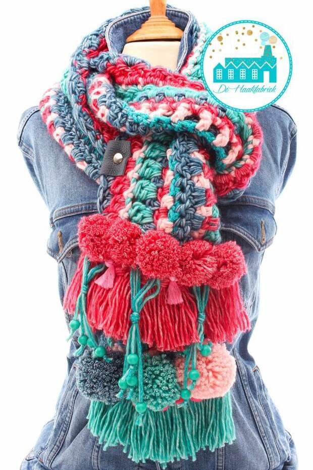 Вместо бахромы на шарфах