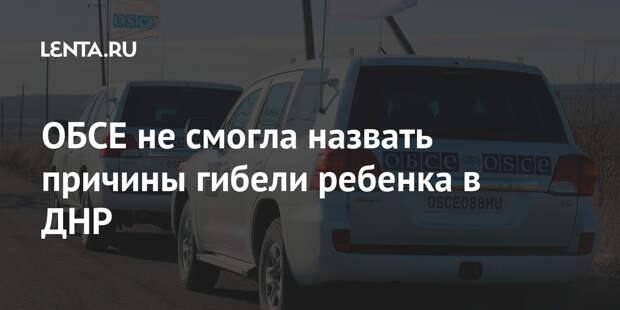 ОБСЕ не смогла назвать причины гибели ребенка в ДНР