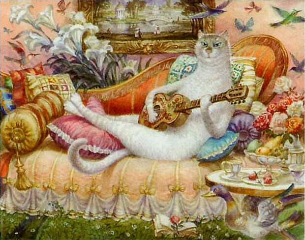 Питерские коты: Как акварельные мурлыки, которые принесли мировую известность их автору