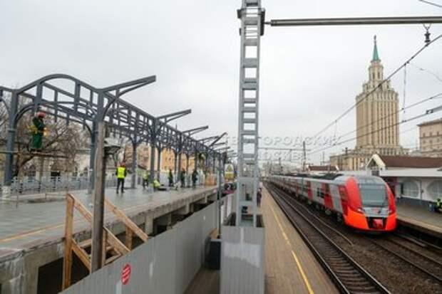 Движение поездов по новому пути на МЦД-2 запустят летом
