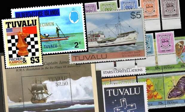 Почтовые марки государства Тувалу