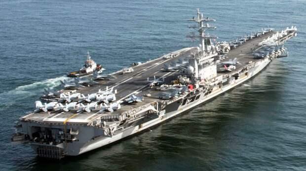 """Авианосец """"Эйзенхауэр"""" ВМС США. Источник изображения:"""