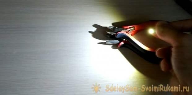 Мини-фонарик брелок своими руками