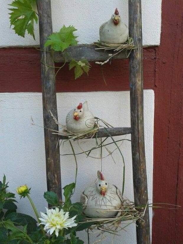 Садовый декор сделанный своими руками. Идеи для творческого вдохновения.