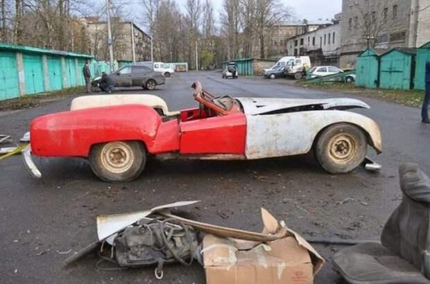 В 90-е годы машину постигла печальная участь.