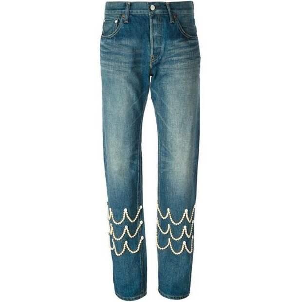 как украсить джинсы своими руками бусинами
