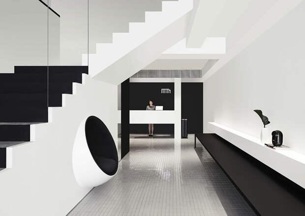 Дуэт чёрного и белого: минималистичный интерьер отеля Mono в Сингапуре