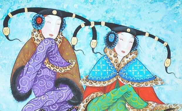 Необычные картины монгольского художника Самбу Заясаихана