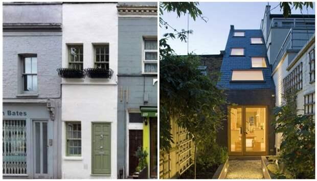 Ширина самого узкого дома Лондона всего лишь 2,4 м.