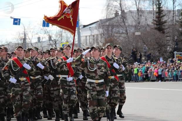 В 2019 году парад в День Победы пройдет в Ижевске по традиционному маршруту
