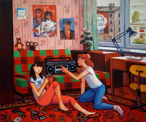 Художница Зоя Черкасская сюмором рисует воспоминания изсоветского детства