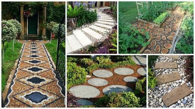 Оригинальные садовые дорожки. \ Фото: postila.ru.